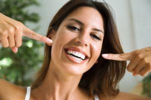 Woman after teeth whitening in Virginia Beach
